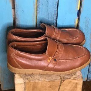Vintage Orange Tab Levi's brown loafers 9W
